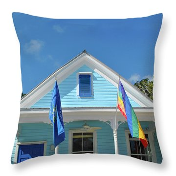 Throw Pillow featuring the photograph Flags Of The Keys by Jost Houk