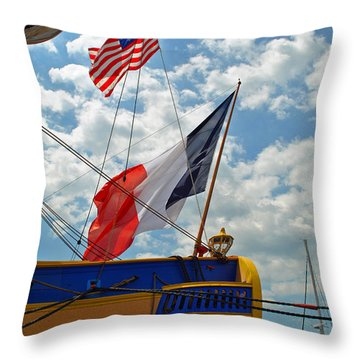 Flags Of The Stern Throw Pillow