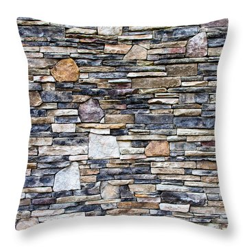 Flagstone Wall Throw Pillow