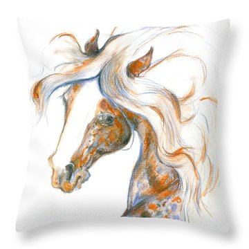Throw Pillow featuring the painting Flair by Mary Armstrong