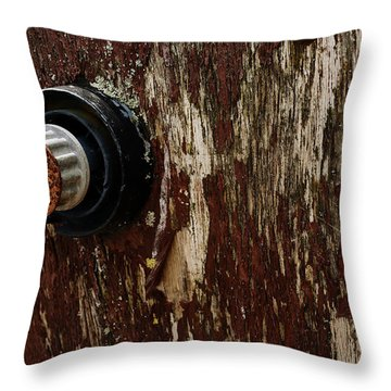Flaking Paint Throw Pillow