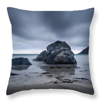 Flakstad Beach Throw Pillow