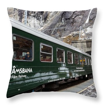Flam Railway Throw Pillow