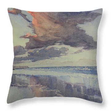 Flamborough Head From Fraisthorpe Beach Throw Pillow