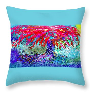 Throw Pillow featuring the painting Flamboyan by The Art of Alice Terrill