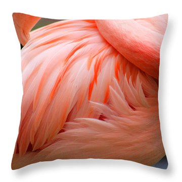 Flame Colored Throw Pillow
