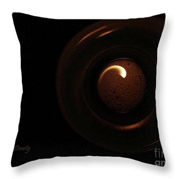 Flame Curl Throw Pillow