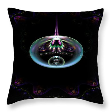 Flame Element Throw Pillow