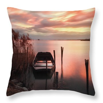 Flame In The Darkness Throw Pillow