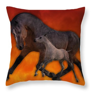 Flame N Firehouse  Throw Pillow