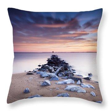 Throw Pillow featuring the photograph Flame On The Horizon by Edward Kreis
