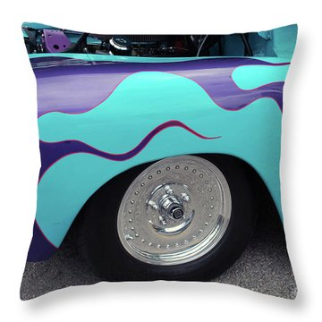 Throw Pillow featuring the photograph Flame Paint Job by Bill Thomson