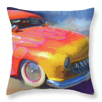 Flamed Mercury Throw Pillow