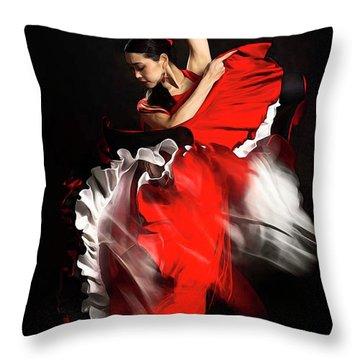 Flamenco Dancer - 01 Throw Pillow