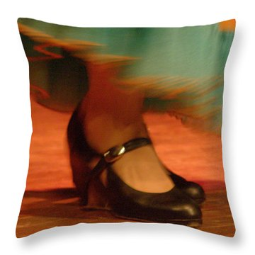 Flamenco Feet Throw Pillow