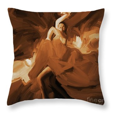 Throw Pillow featuring the painting Flamenco Flamenco  by Gull G