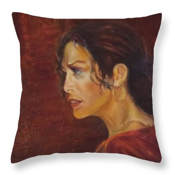 Flamenco Girl 1 Throw Pillow