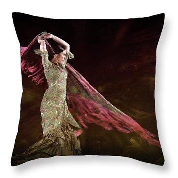 Flamenco Nomada  Throw Pillow