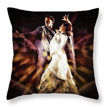 Flamenco Performance Throw Pillow