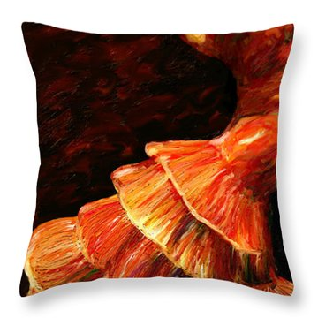 Throw Pillow featuring the painting Flamenco Poise 2 by James Shepherd