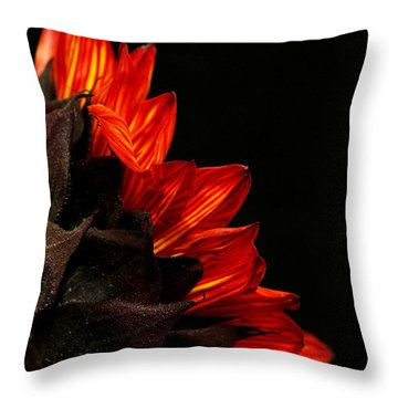 Throw Pillow featuring the photograph Flames by Judy Vincent