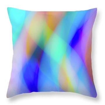 Flames Of Iridescence Throw Pillow
