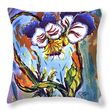 Flames Of Love Throw Pillow