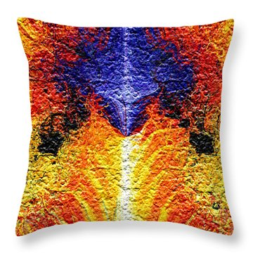 Throw Pillow featuring the digital art Flames Of Wrath by Charmaine Zoe