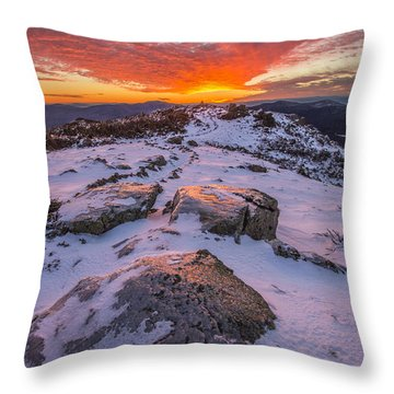 Flames Over Haystack Throw Pillow