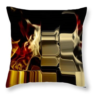 Flaming Bolt Throw Pillow