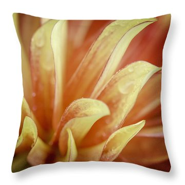 Flaming Dahlia Throw Pillow