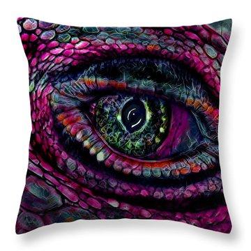 Flaming Dragons Eye Throw Pillow