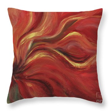 Flaming Flower Throw Pillow by Nadine Rippelmeyer