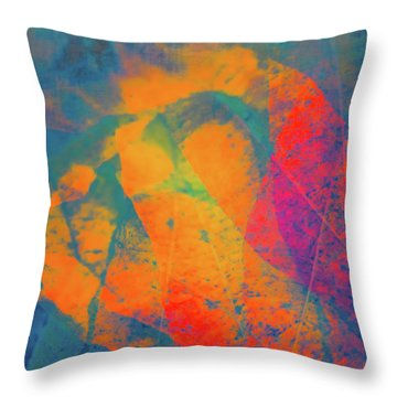 Throw Pillow featuring the photograph Flaming Foliage 1 by Ari Salmela