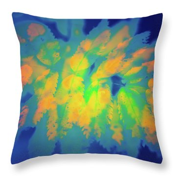 Throw Pillow featuring the photograph Flaming Foliage 2 by Ari Salmela
