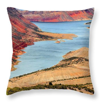 Flaming Gorge Throw Pillow
