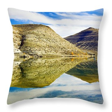Flaming Gorge Water Reflections Throw Pillow