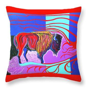 Flaming Heart Buffalo Throw Pillow
