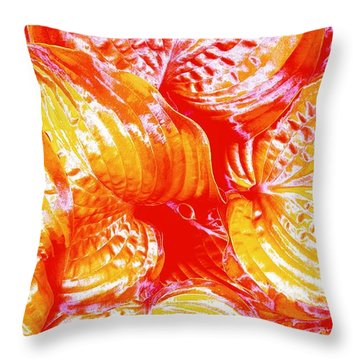 Flaming Hosta Throw Pillow