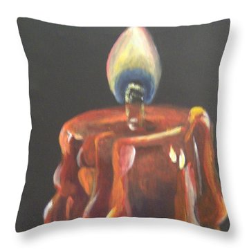 Throw Pillow featuring the painting Flaming Hot by Saundra Johnson