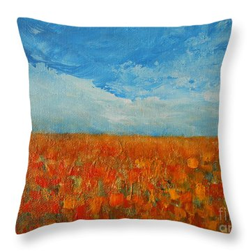 Flaming Orange Throw Pillow