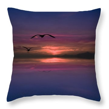 Flaming Sky  Throw Pillow