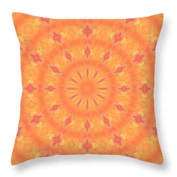 Throw Pillow featuring the digital art Flaming Sun by Elizabeth Lock