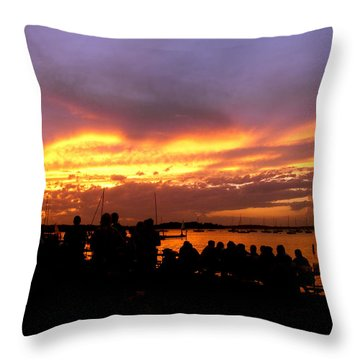 Throw Pillow featuring the photograph Flaming Sunset by Zafer Gurel