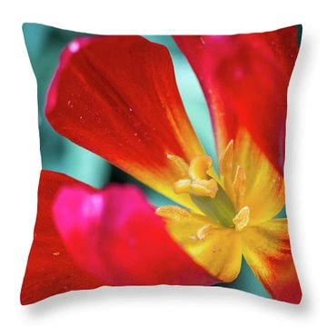 Flaming Tulip Throw Pillow