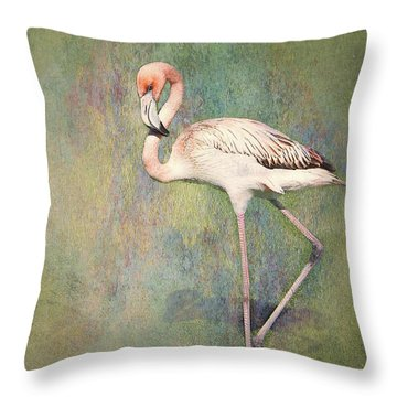 Flamingo Dancing Throw Pillow