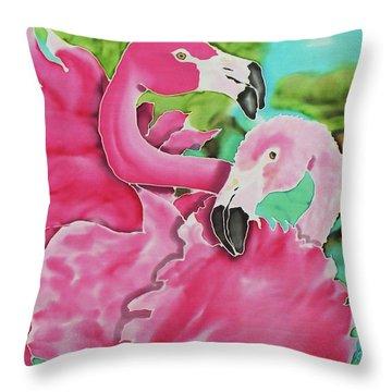 Flamingo Passion Throw Pillow