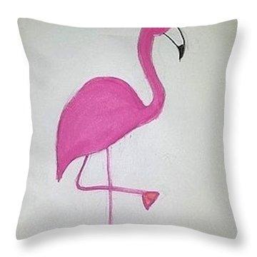 Flamingo Pink Throw Pillow
