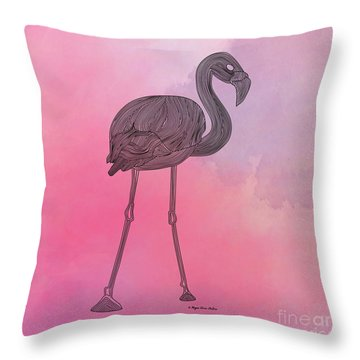 Flamingo5 Throw Pillow