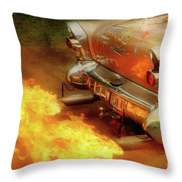 Flam'n Throw Pillow by Joel Witmeyer